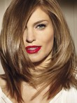 Length Lace Front Straight Medium Synthetic Wig