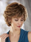 Short Synthetic New Style Wave Layers Capless Wig