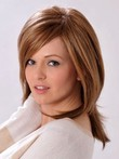 Short Synthetic Capless Straight Wig