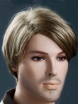 Blonde Soft Stylish Short 6 Inch Mens Wig
