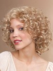 Curly Length Graceful Medium Synthetic Wig