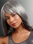 Synthetic Foxy Silver Lace Front Wig