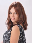Long Awesome Modern Wavy Human Hair Lace Front Wig