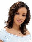 Layehuman Hair Natural Medium Lace Front Red African American Wig