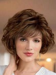 Wavy New Style Look With Textured Synthetic Wig
