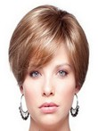 Short Full Lace Straight Human Hair Wig For Woman
