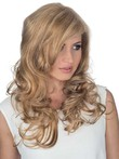 Lace Front Side Parting Remy Hair Nice-looking Wavy Wig