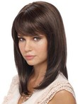 Lace Front Straight Silky Human Hair Wig