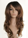 Long Fearne Cotton Synthetic Wavy Dip-dye Celebrity Wig