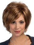 Red Wispy Layelace Front Fashion Synthetic Wig