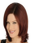 Medium Full Lace Straight Human Hair Wig For Woman