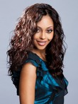 Long Human Hair Lace Front Wavy African American Wig