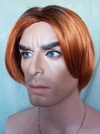 Sketchy Straight Lace Front Synthetic Short Mens Wig