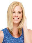 Graceful Mid-straight Lace Front Length Synthetic Wig