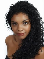 Synthetic Long Lace Front Curl African American Wig