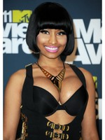 Nicki Minaj Short Synthetic Bob Celebrity Wig