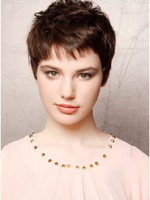 Chic Satisfied Capless Short Synthetic Wig With Straight Style