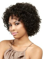 Muah Curly Remy Human Hair African American Wig