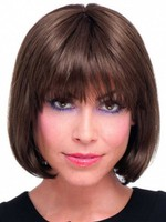 Human Hair Bob Style Lace Front Chin Wig