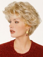 Short Capless Flyaway Waves Luxury Synthetic Wig