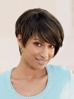 Short Straight Capless Gorgeous African American Wig