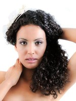 Silky Curly Human Hair Full Lace Wig