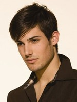 Remy Human Hair Lace Front Short Mens Wig