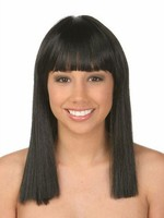 Black Straight Marvelous Human Hair Wig