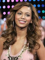 Beyonce Synthetic Roller Set Curls Long Celebrity Wig