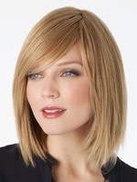 Side Swept Remy Human Hair Fringe Lace Wig For Woman