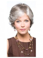 Side Parting Wavy Conservative Capless Wig