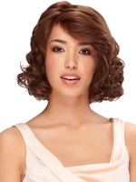 Capless Wavy Glamorous Remy Human Hair Wig