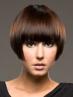 Short Polished Straight Capless Wig