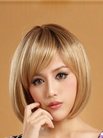 Bob Style Straight Short Lace Front Synthetic Wig