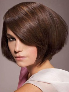 Length Short Straight Classic Lace Front Synthetic Wig
