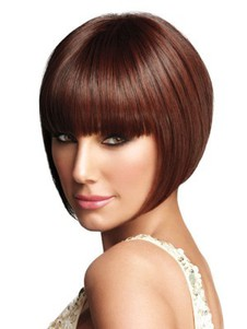 Capless Synthetic Short Bob Style Cut Wig