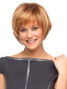 Choppy Bob Style Wig With Razored Ends