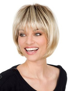 Length Mid-bob Style Synthetic Lace Front Wig