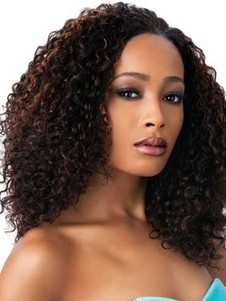 Gorgeous Synthetic Small Curly Long African American Wig