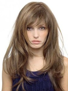 Human Hair Elaborately Long Capless Straight Wig