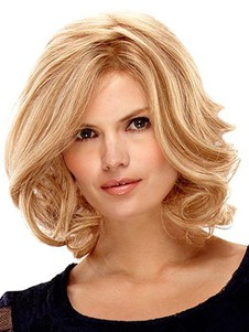 Medium Nice Lace Front With Mono Wavy Wig For Woman