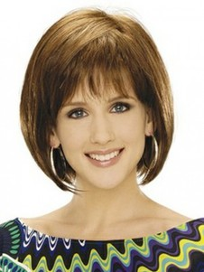 Beautiful Bob Style Collar Length Synthetic Wig