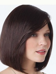 Straight Natural Human Hair Lace Front Wig