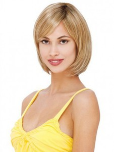 Length Medium Straight Human Hair Bob Style Layered Bob