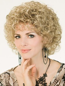 Capless Short Stylish Curly Synthetic Wig
