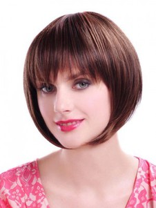 Straight Bob Style Chic Short Synthetic Wig