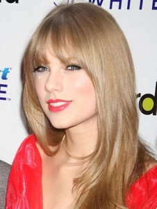 Taylor Swift Blonde Straight Long Synthetic Celebrity Wig