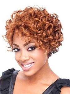 Wavy Length Shoulder Lace Front African American Wig