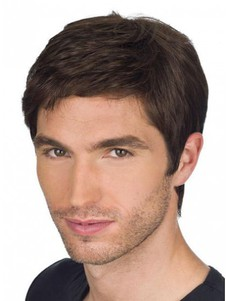 Chic Human Hair Full Lace Mens Wig