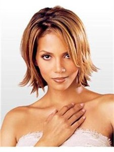 Halle Berry Straight Charming Human Hair Lace Front Wig
